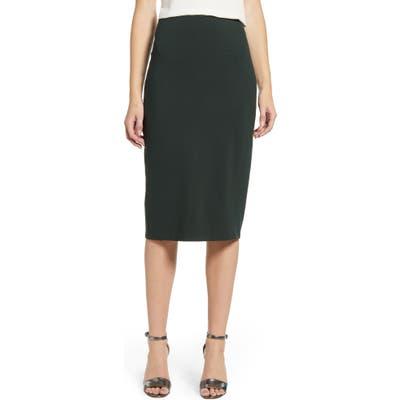 Vince Camuto Ponte Midi Skirt, Green