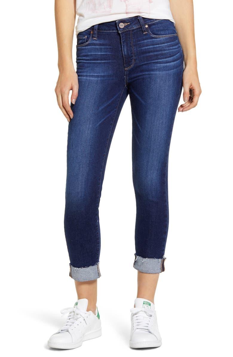 Transcend Vintage   Skyline Raw Hem Cuff Skinny Jeans by Paige