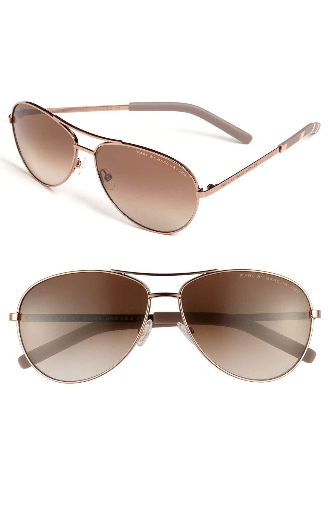 ,                             59mm Aviator Sunglasses,                             Main thumbnail 3, color,                             600