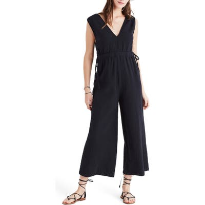 Madewell Waikiki Cover-Up Jumpsuit, Black