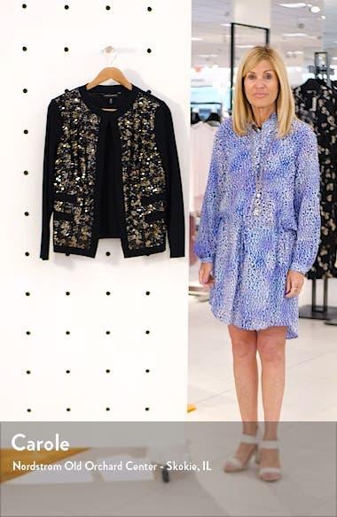 Sequin Front Knit Jacket, sales video thumbnail