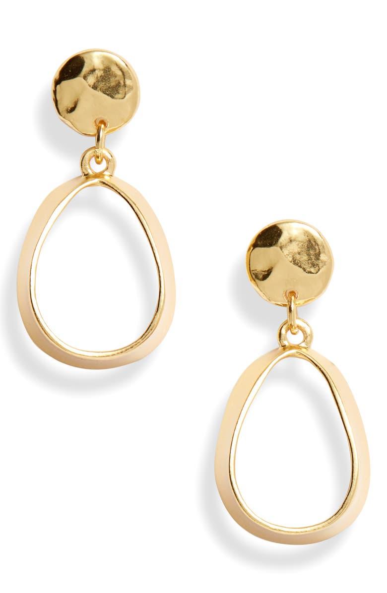 KARINE SULTAN Teardrop Earrings, Main, color, GOLD