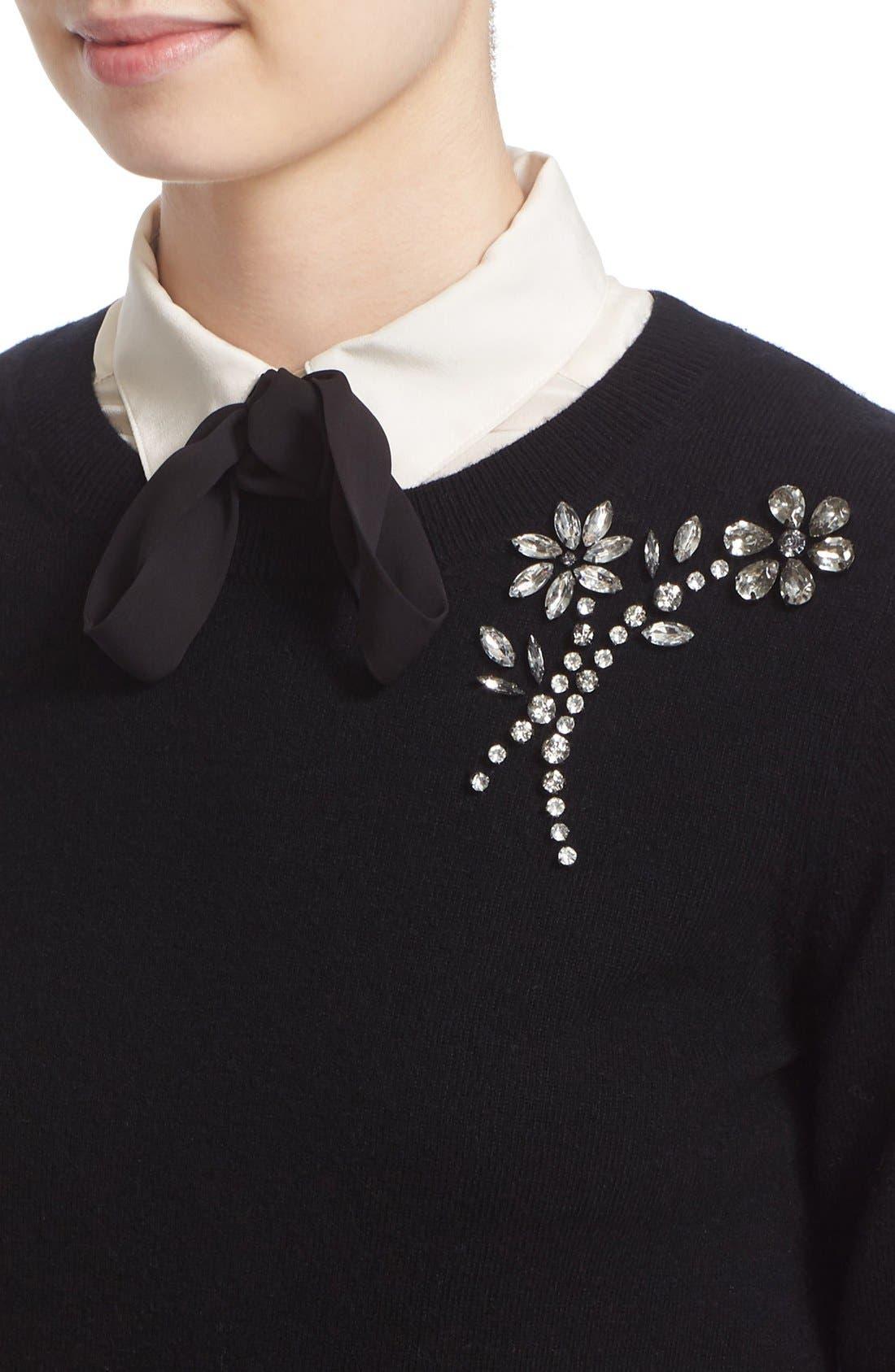 ,                             embellished sweater,                             Alternate thumbnail 4, color,                             001