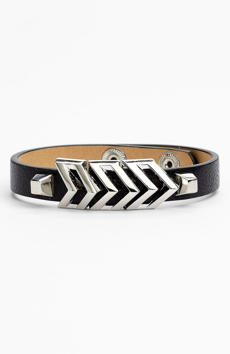 VINCE CAMUTO 'Call of the Wild' Chevron Bracelet, Main, color, 001