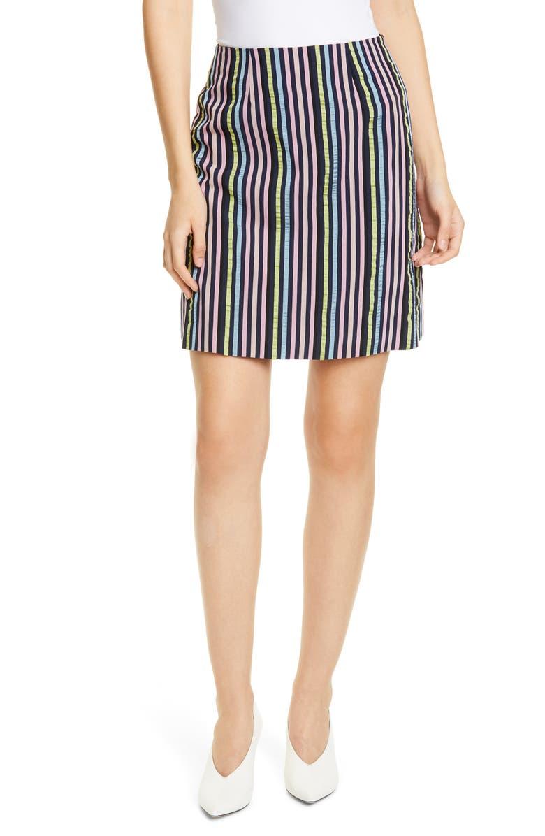 HUGO Rinetta Stripe Skirt, Main, color, OPEN MISCELLANEOUS