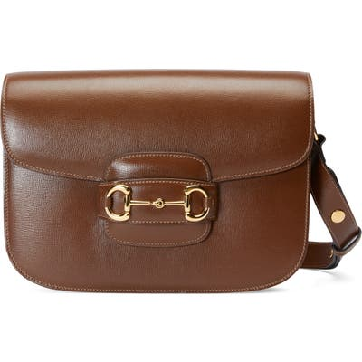 Gucci Small 1955 Horsebit Leather Shoulder Bag - Brown