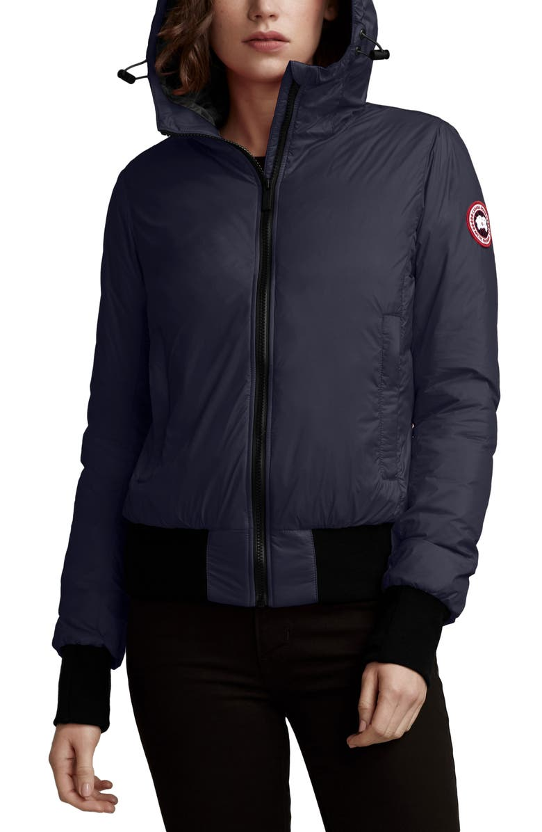 CANADA GOOSE Dore Down Hooded Jacket, Main, color, ADMIRAL NAVY