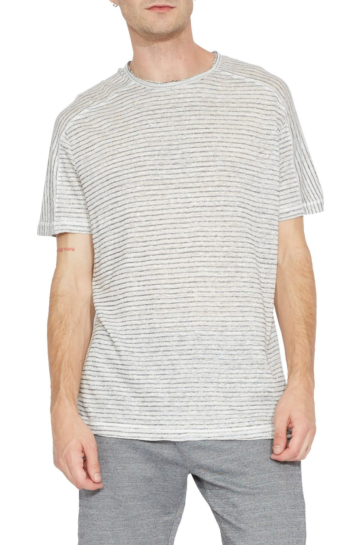 Image of Civil Society Abilene Striped Linen Blend T-Shirt