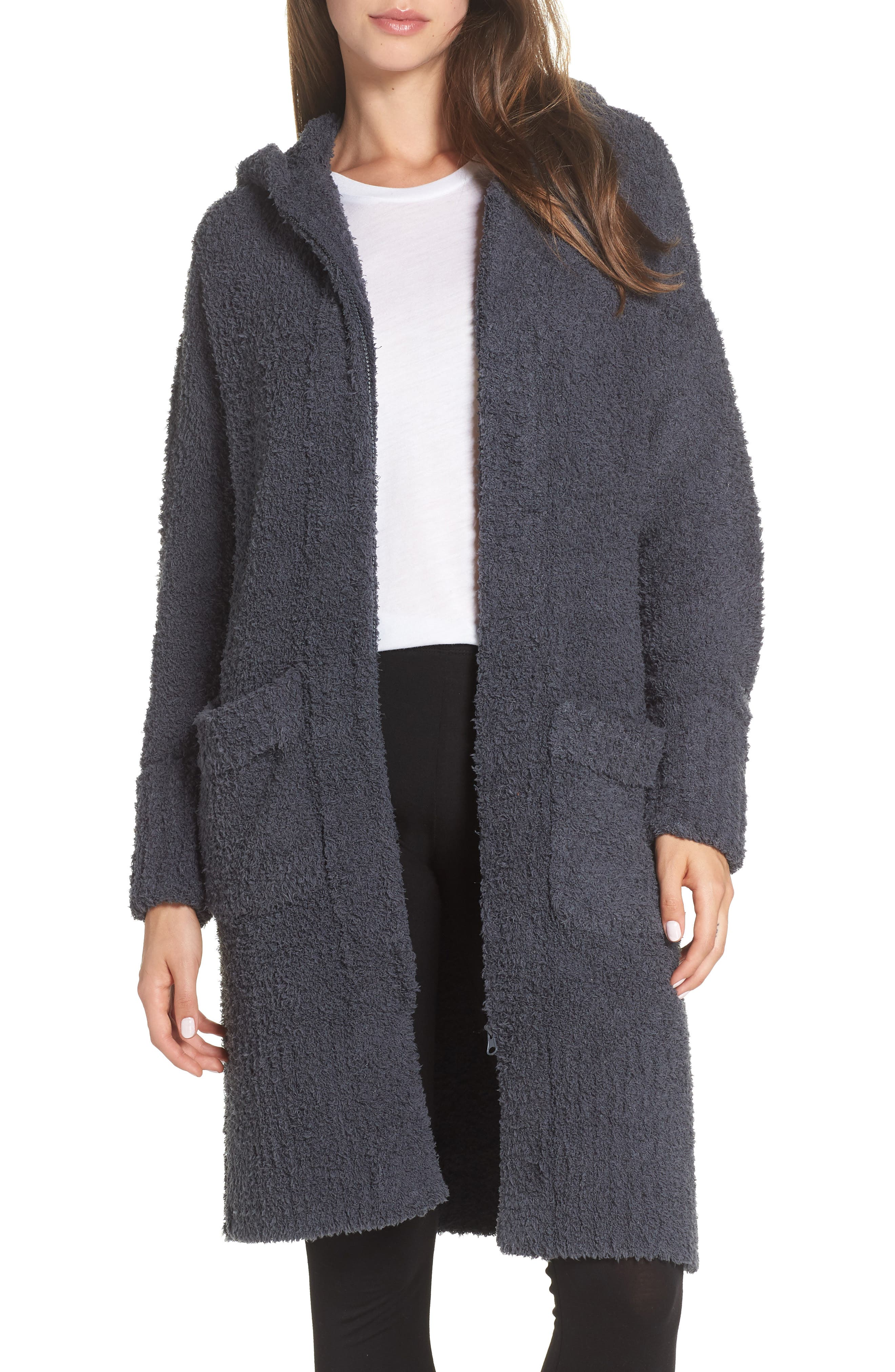 Barefoot Dreams Cozychic Nor-Cal Lounge Coat, Blue