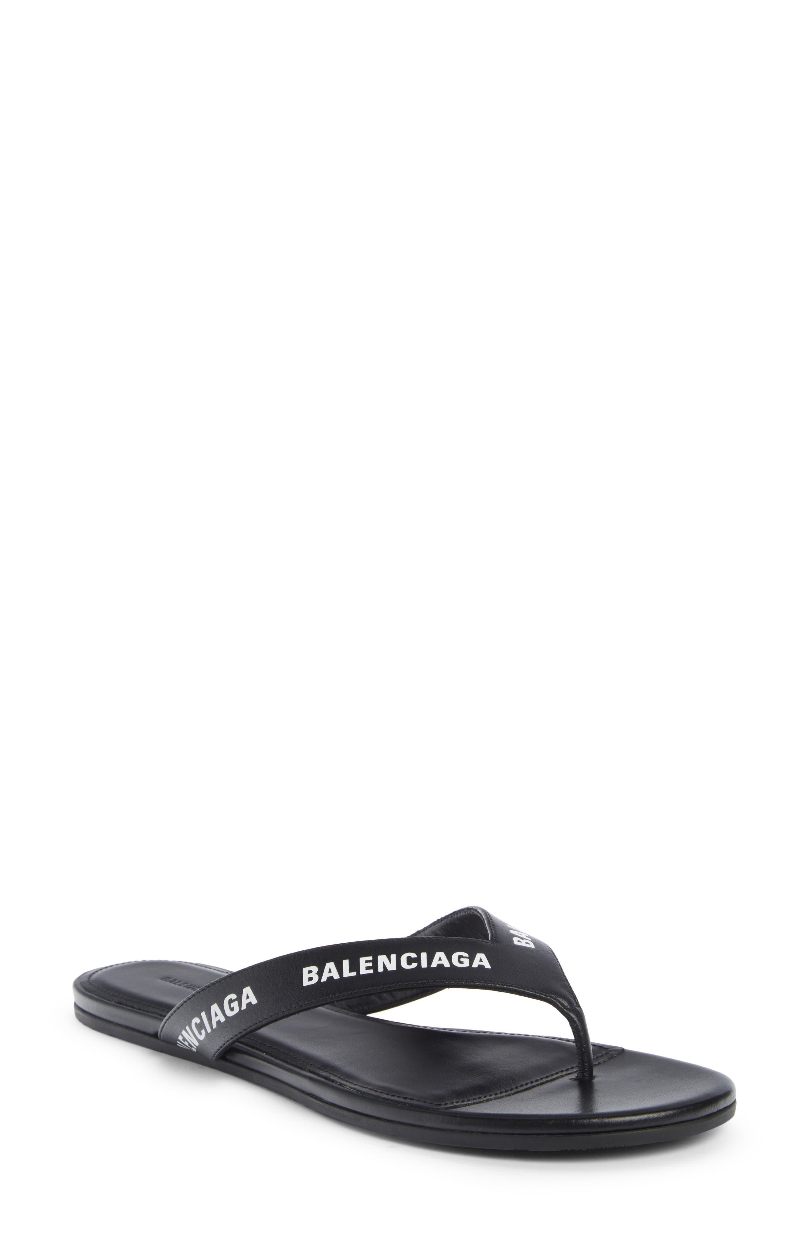 Balenciaga Logo Flip Flop (Women