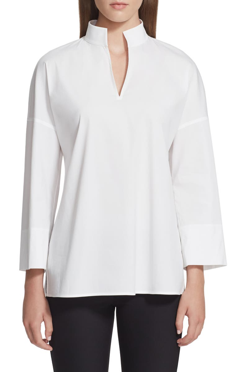 LAFAYETTE 148 NEW YORK Hawkins Blouse, Main, color, WHITE