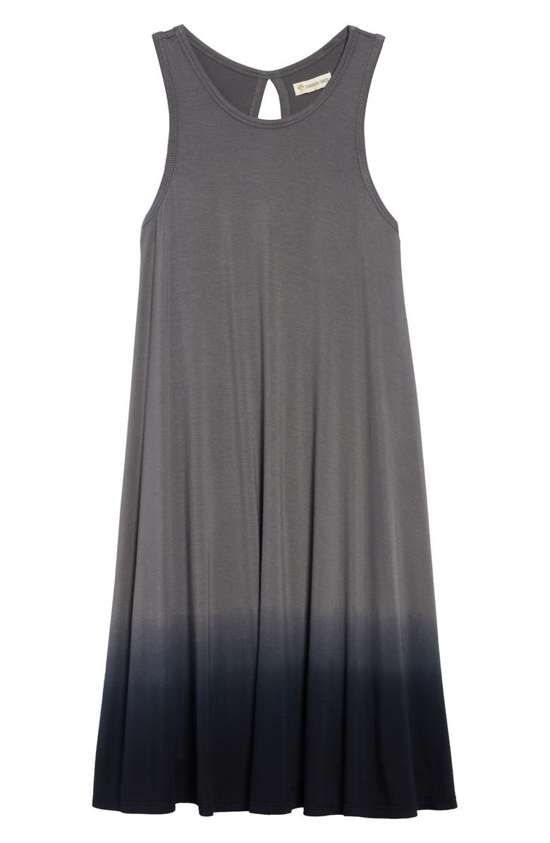 TUCKER + TATE Dip Dye Tank Dress, Main, color, GREY CASTLEROCK- BLACK OMBRE