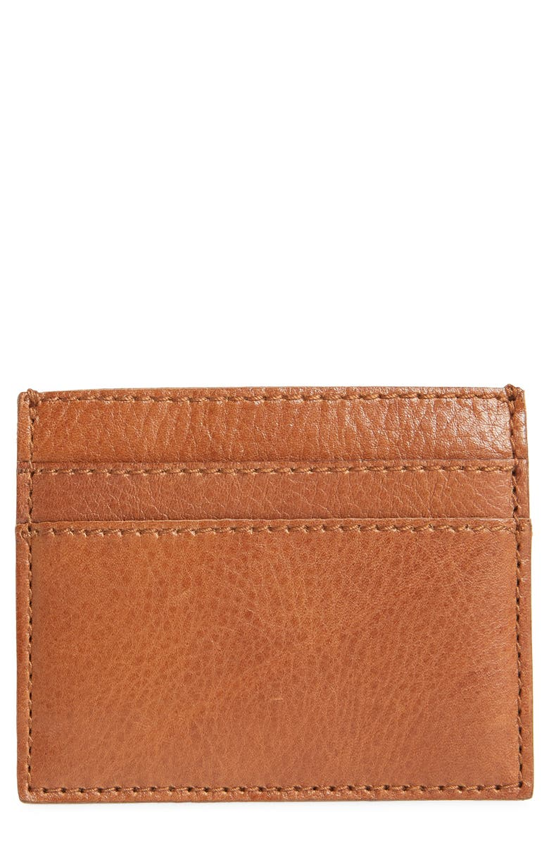 MADEWELL The Leather Card Case, Main, color, ENGLISH SADDLE