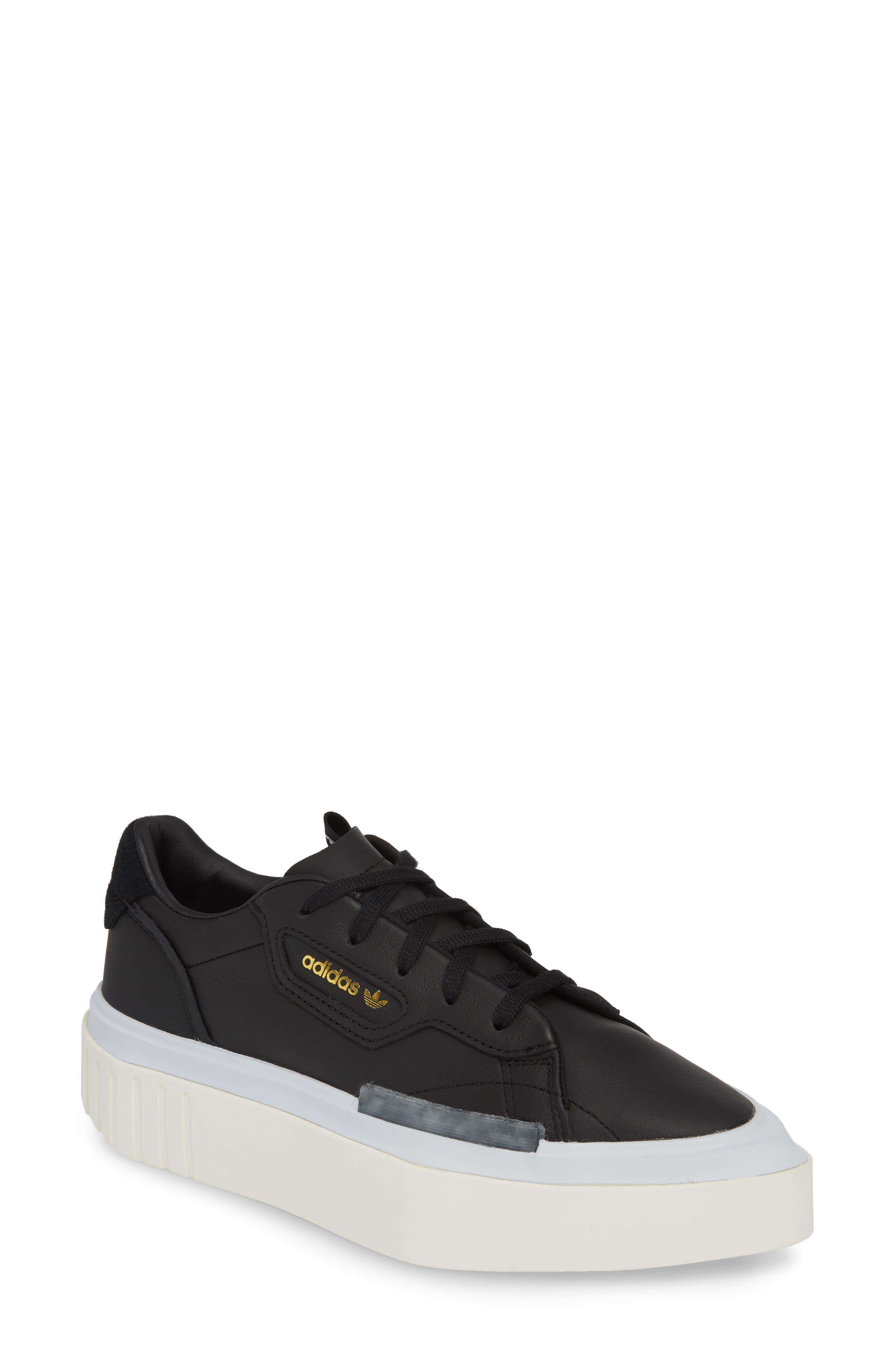 Adidas Hypersleek Platform Sneaker- Black