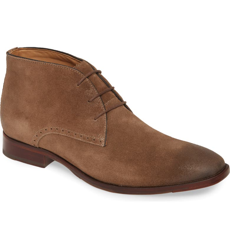 JOHNSTON & MURPHY McClain Chukka Boot, Main, color, TAUPE SUEDE