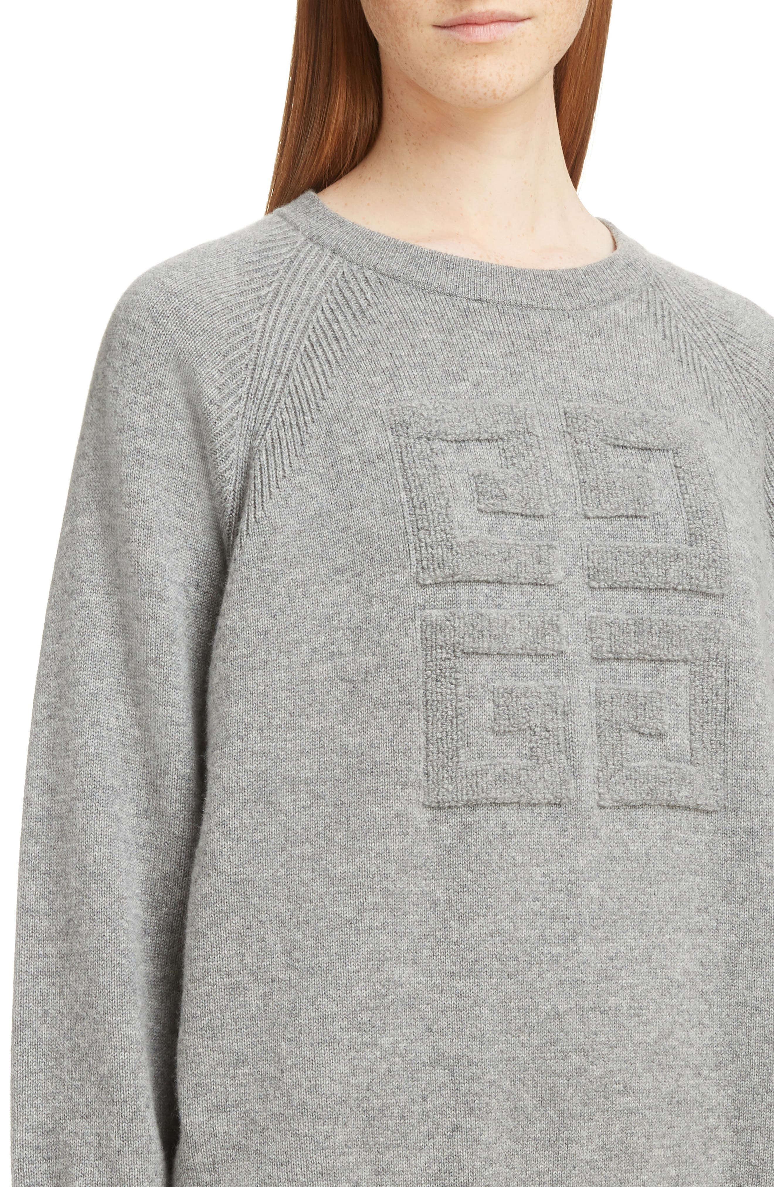 ,                             Embossed Logo Cashmere Sweater,                             Alternate thumbnail 10, color,                             020