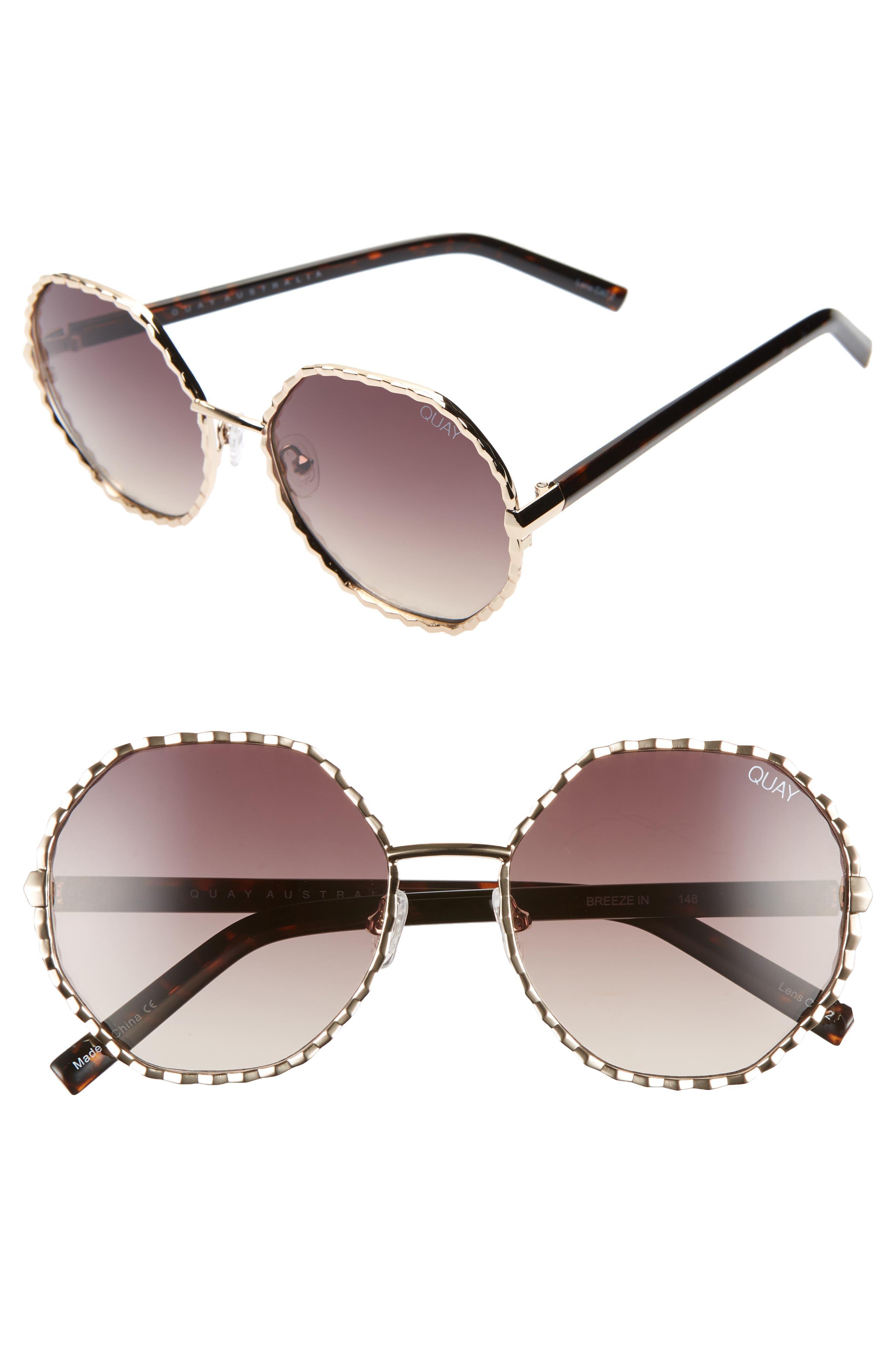 Quay Australia Breeze In 5m Round Sunglasses -