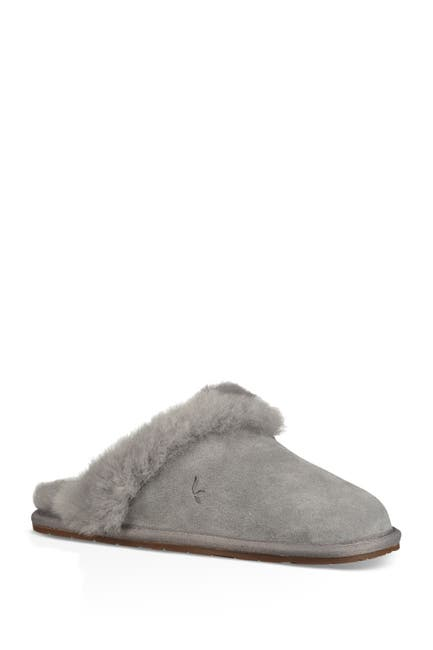 Image of KOOLABURRA BY UGG Milo Genuine Shearling & Faux Fur Trimmed Scuff Slipper