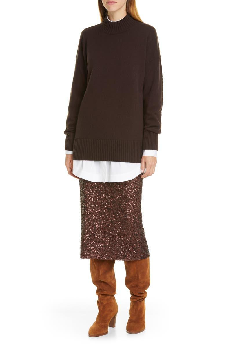 LAFAYETTE 148 NEW YORK Jaycee Longline Shirt, Main, color, 100