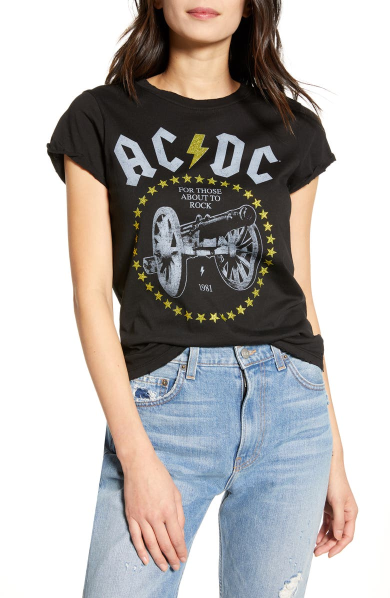 RECYCLED KARMA Crystal Embellished For Those About to Rock Tour Tee, Main, color, 001