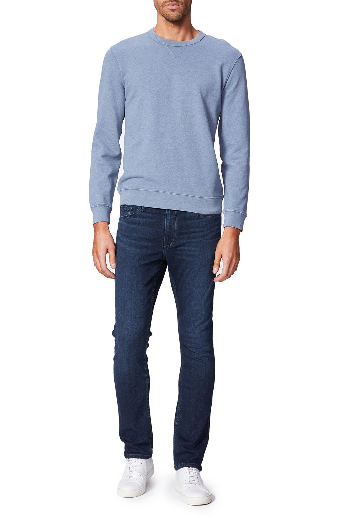 Image of PAIGE Brysen Crew Neck Long Sleeve T-Shirt