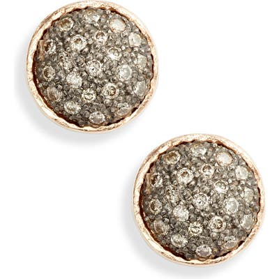 Armenta New World Pave Circle Diamond Earrings