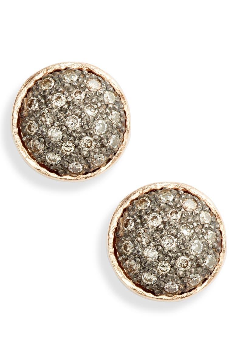 ARMENTA New World Pavé Circle Diamond Earrings, Main, color, METALLIC GOLD