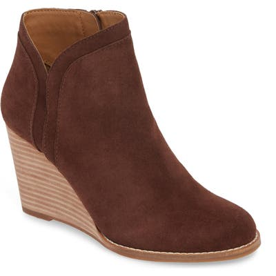 Lucky Brand Yimina Wedge Bootie- Brown