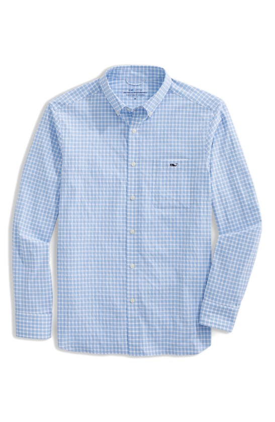 Vineyard Vines ON-THE-GO GINGHAM PERFORMANCE BUTTON-DOWN SHIRT