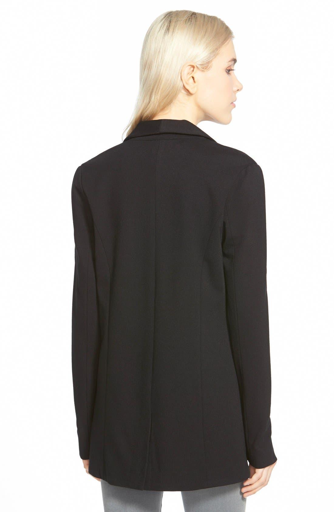 ,                             Open Shawl Collar Jacket,                             Alternate thumbnail 2, color,                             001