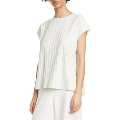Eileen Fisher Ribbed Top, Green