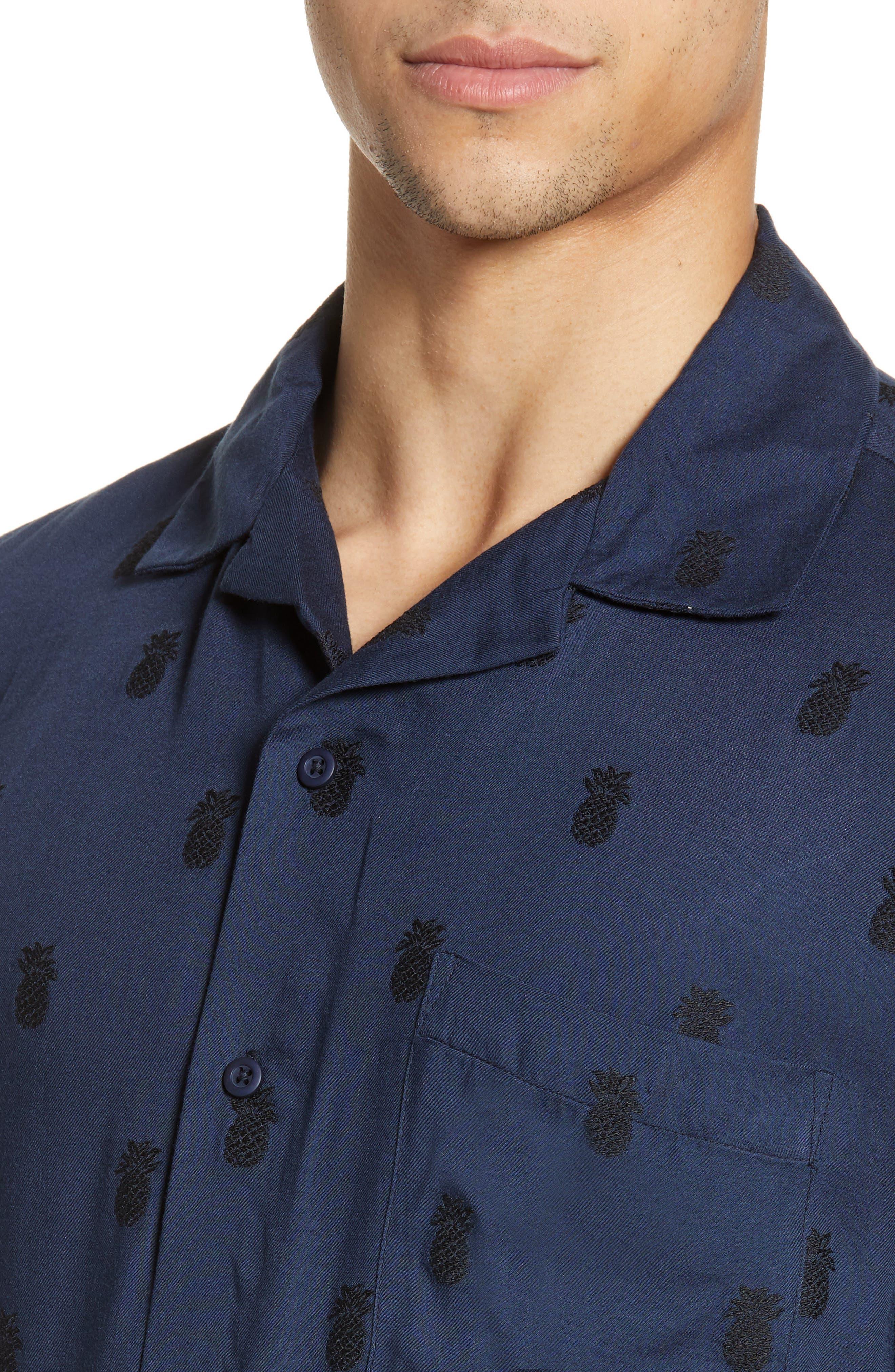 ,                             Pineapple Vacation Shirt,                             Alternate thumbnail 2, color,                             DEEP NAVY