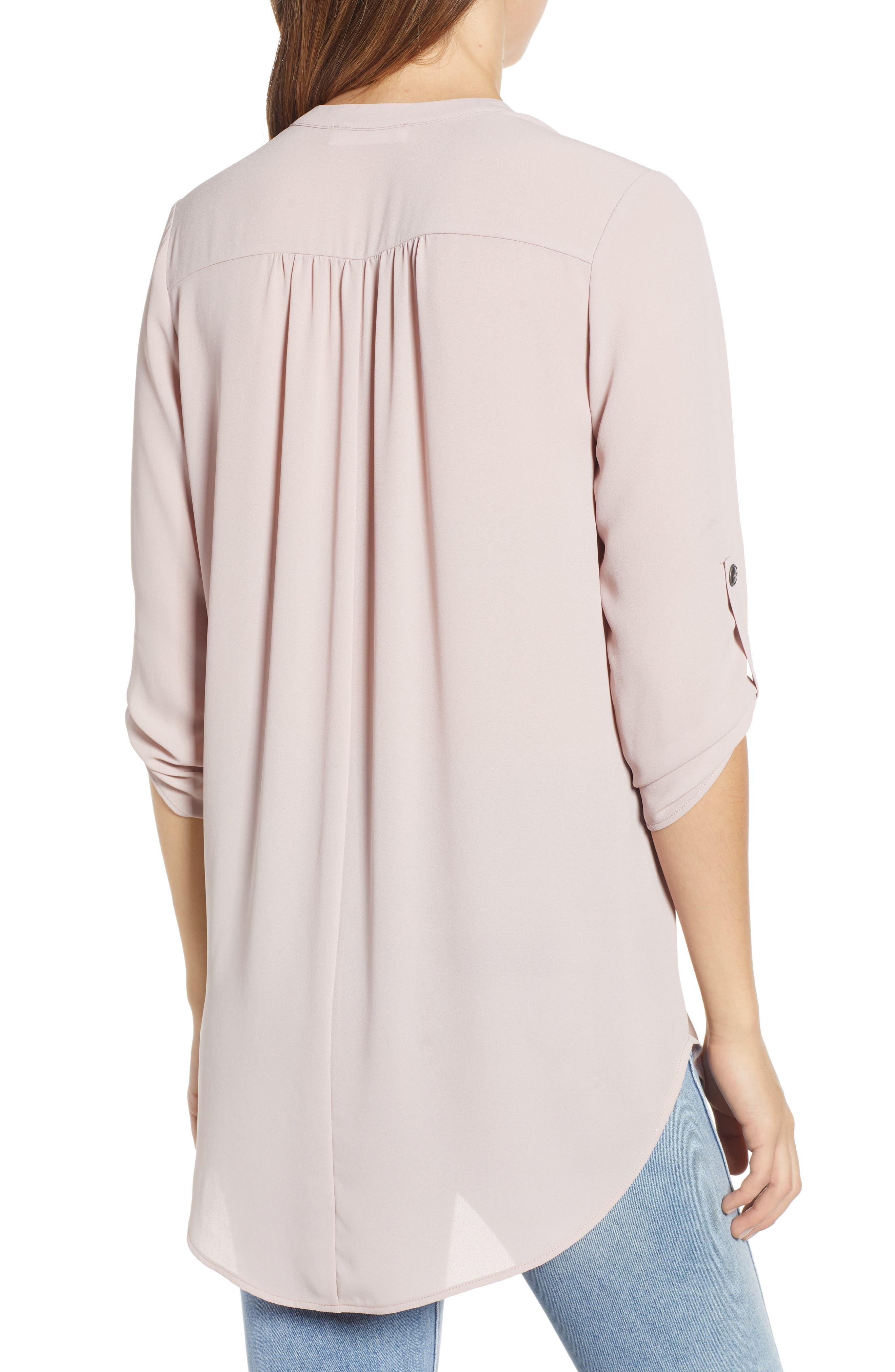 ,                             Perfect Roll Tab Sleeve Tunic,                             Alternate thumbnail 13, color,                             658