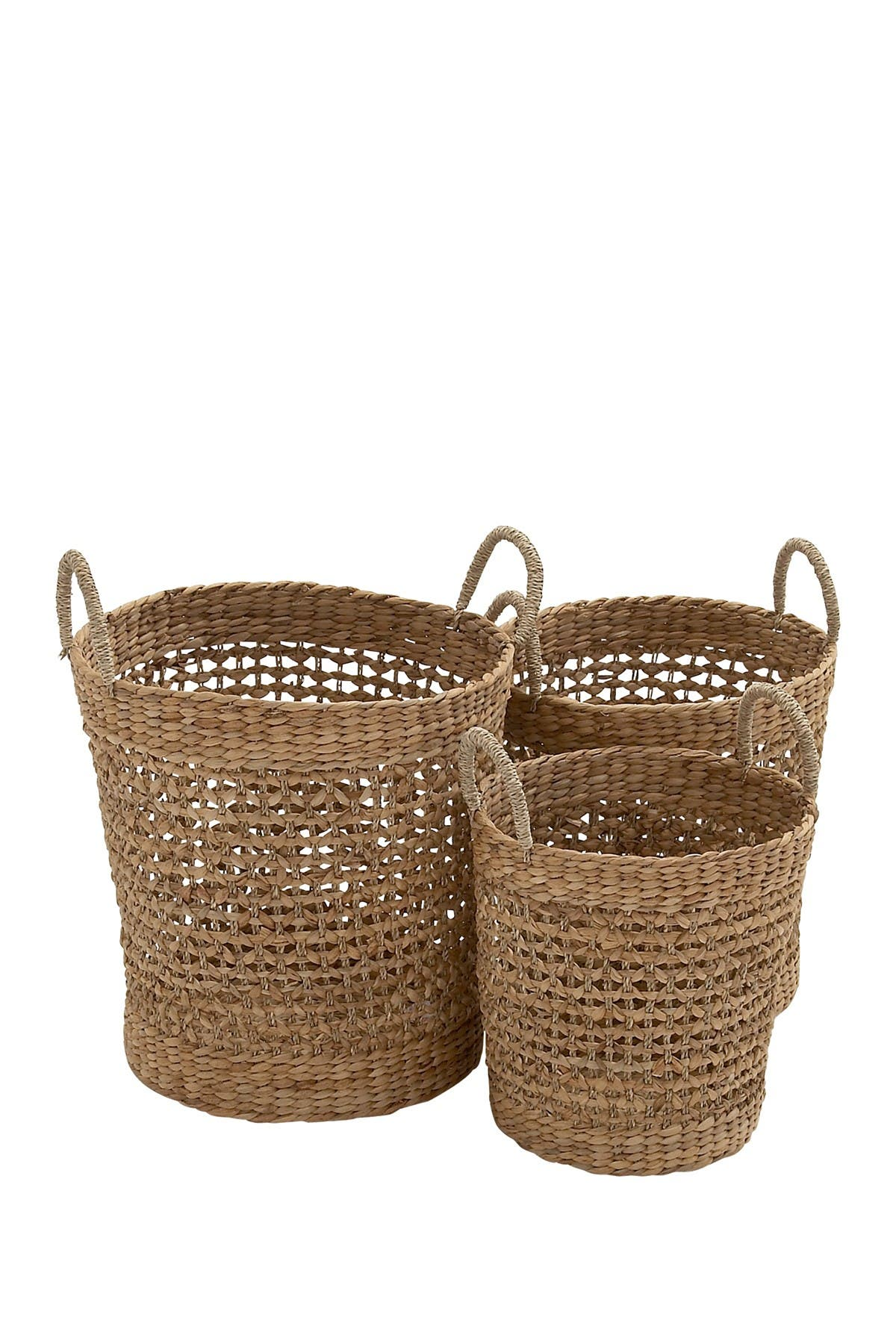 Image of Willow Row Round Seagrass Baskets - Set of 3