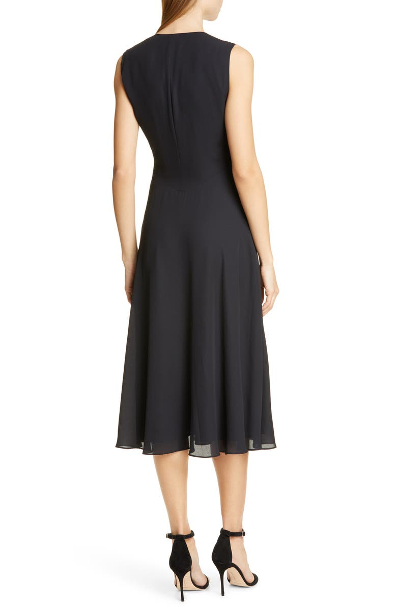 Ulna Magnificent Midi Dress, Alternate, color, BLACK