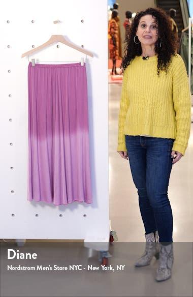 Dip Dye Satin Midi Skirt, sales video thumbnail