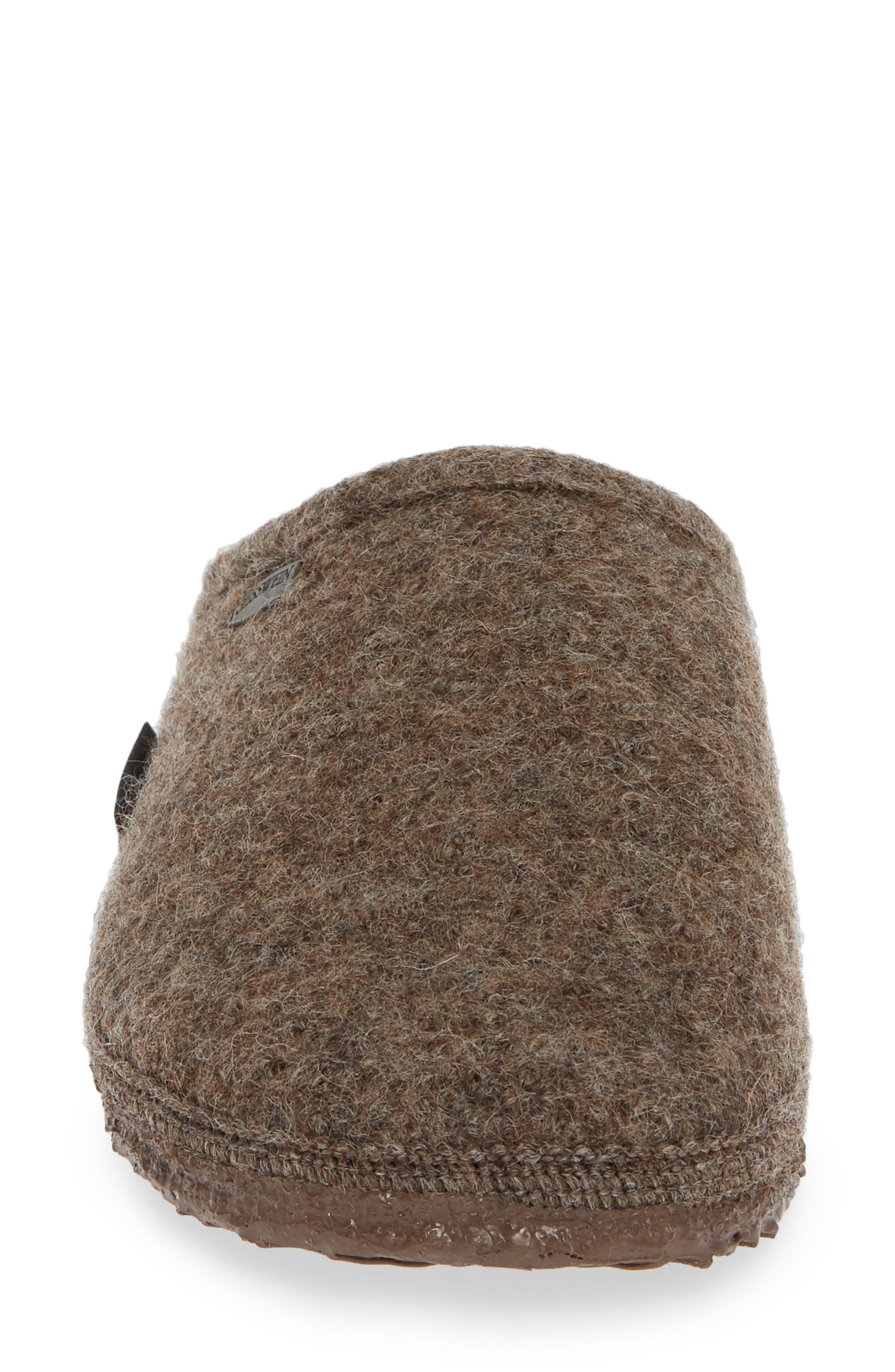 ,                             Abend Boiled Wool Slipper,                             Alternate thumbnail 4, color,                             TAUPE WOOL
