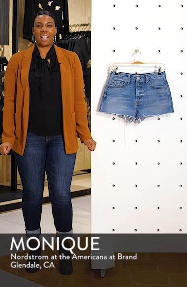 Cindy High Waist Denim Shorts, sales video thumbnail