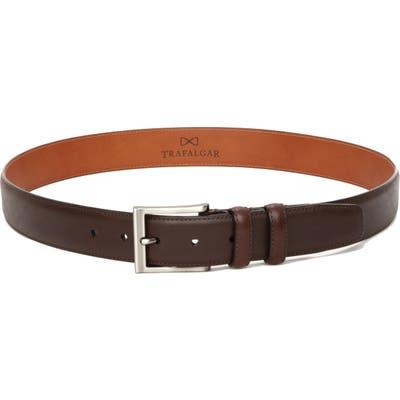 Trafalgar Corvino Leather Belt, Brown