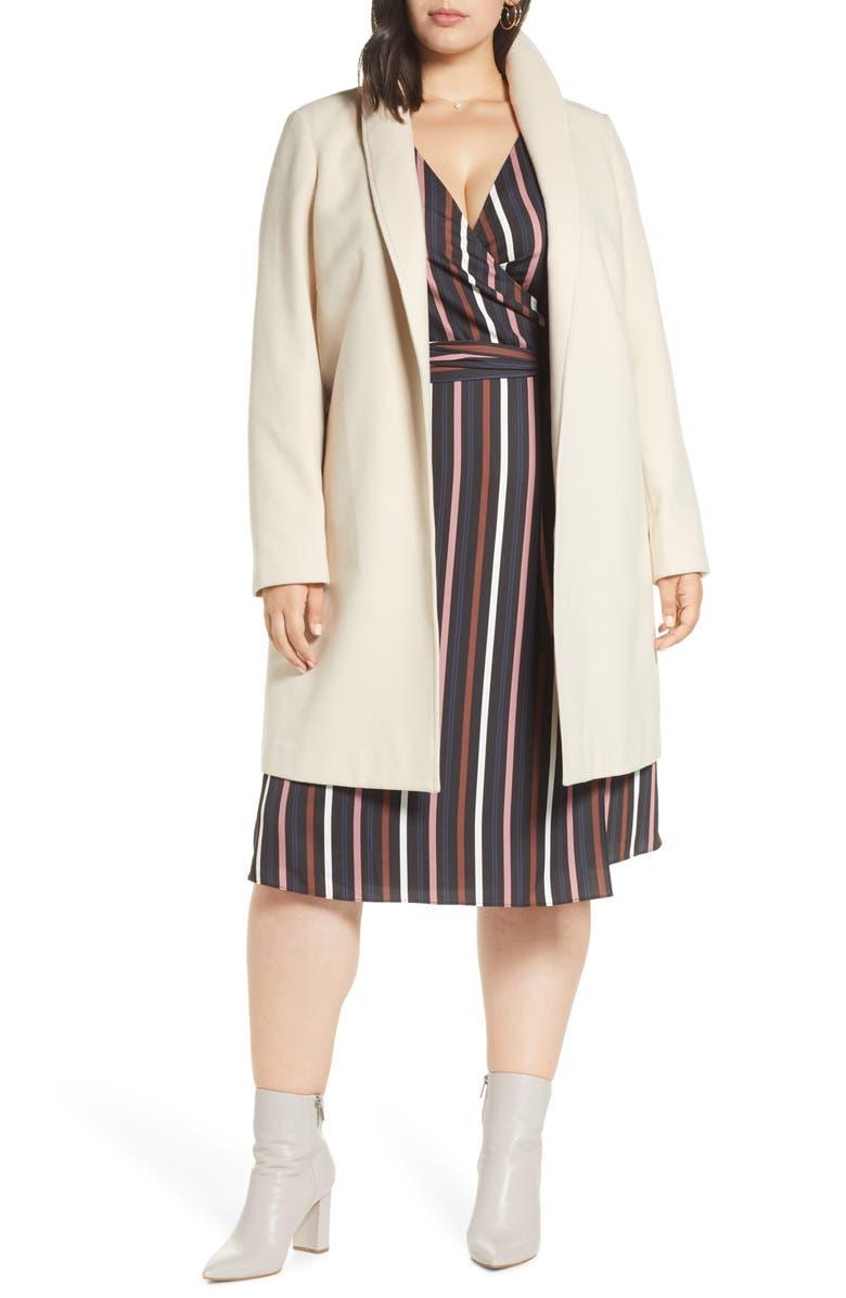 HALOGEN<SUP>®</SUP> Double Face Coat, Main, color, LATTE