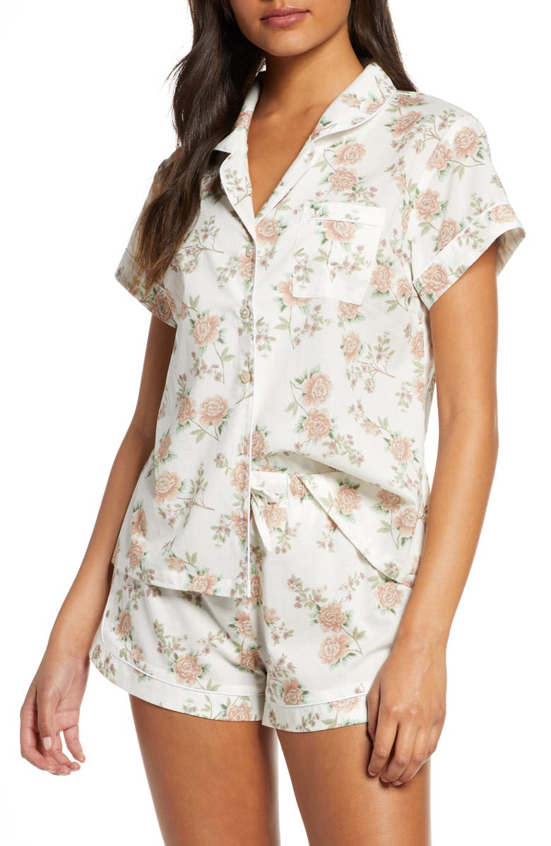 HOMEBODII Marianne Short Pajamas, Main, color, 100