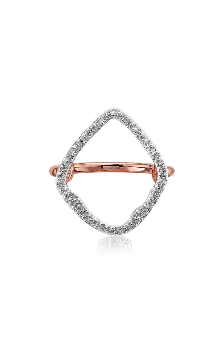 MONICA VINADER Riva Hoop Diamond Ring, Main, color, ROSE GOLD/ DIAMOND