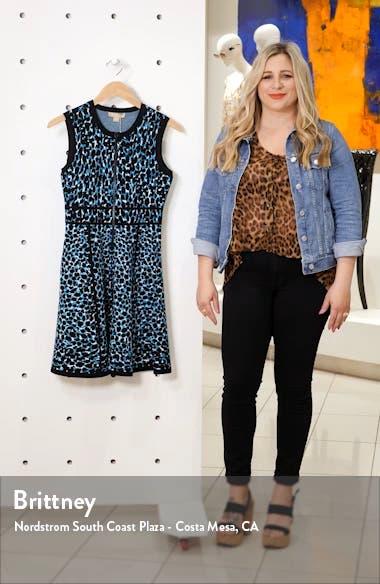 Leopard Print Zip Front Fit & Flare Dress, sales video thumbnail