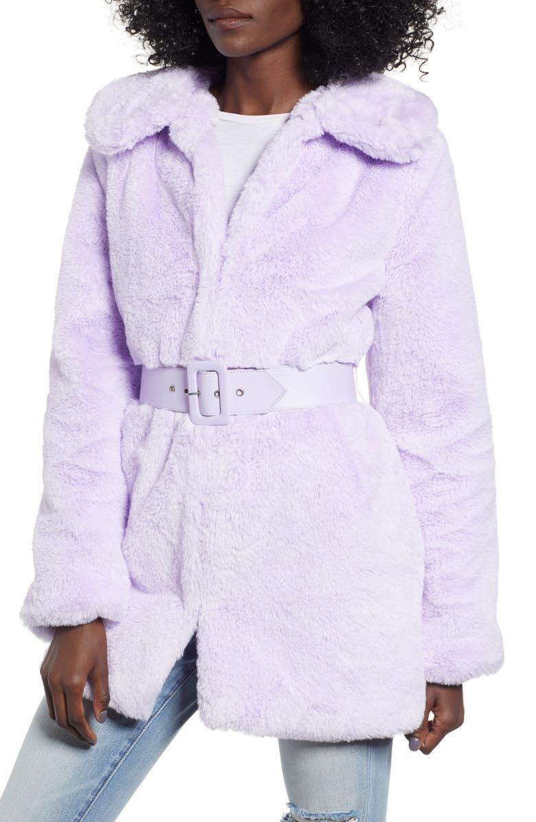 WAYF Everette Faux Fur Coat, Main, color, 500