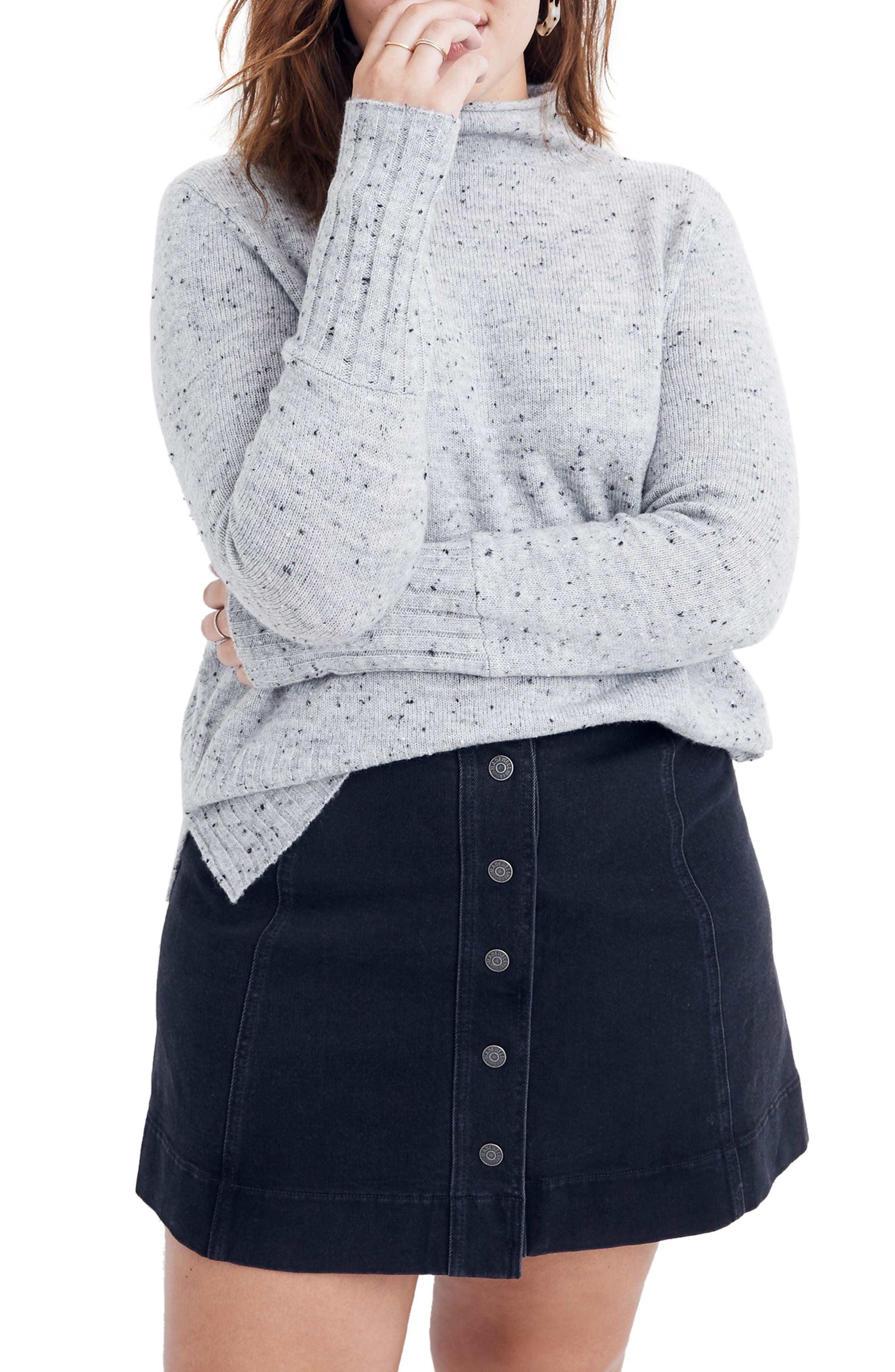 Image of Madewell Donegal Inland Turtleneck Sweater