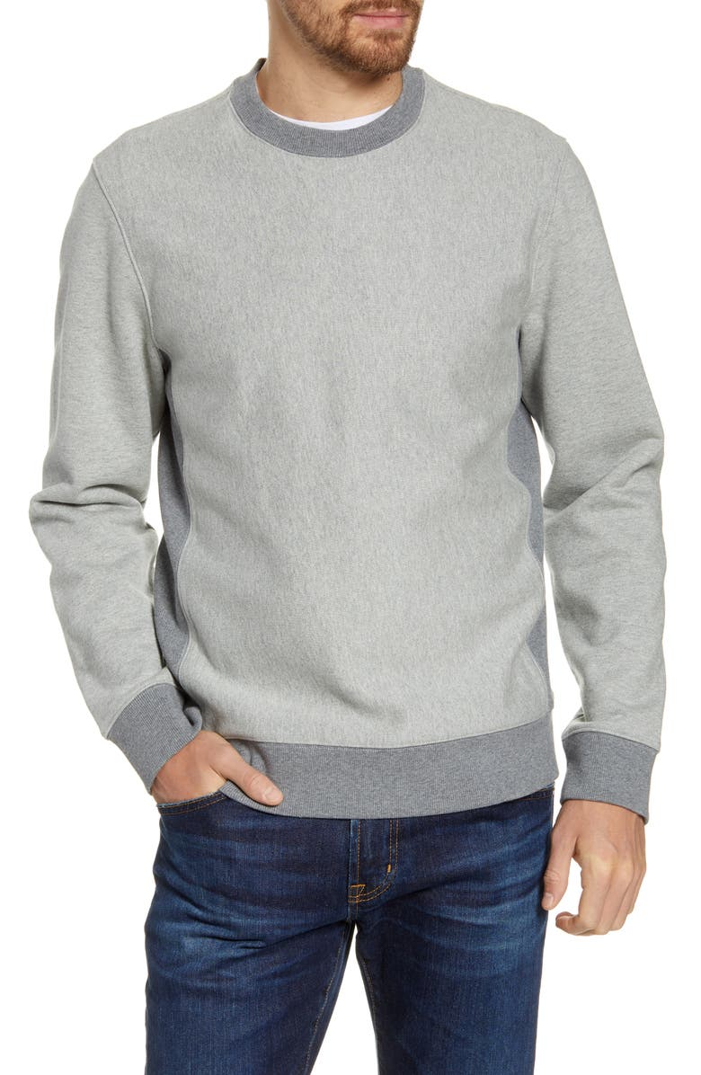 1901 Fleece Crewneck Sweatshirt, Main, color, GREY OIL HEATHER
