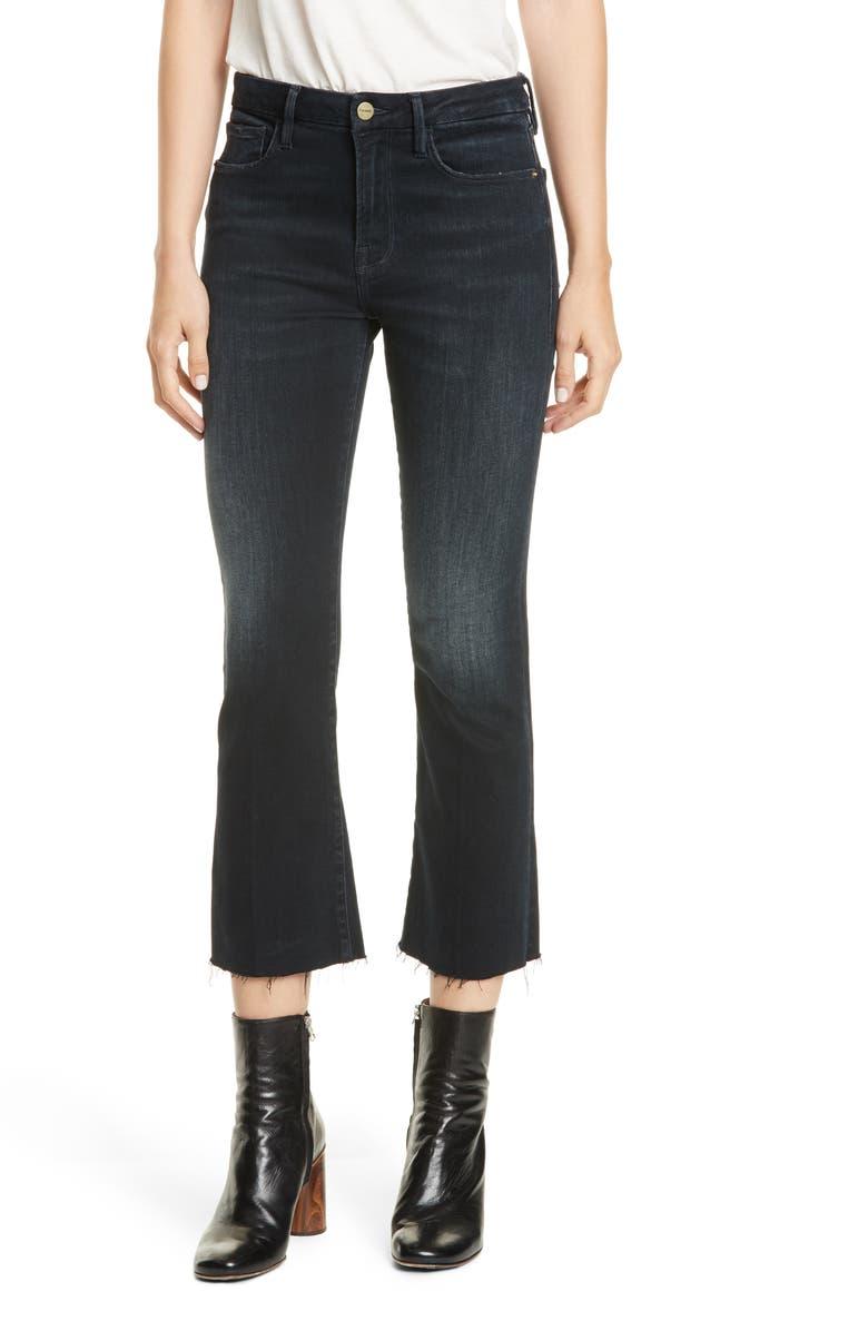 FRAME Le Crop Mini Raw Hem Bootcut Jeans, Main, color, MARCELLA
