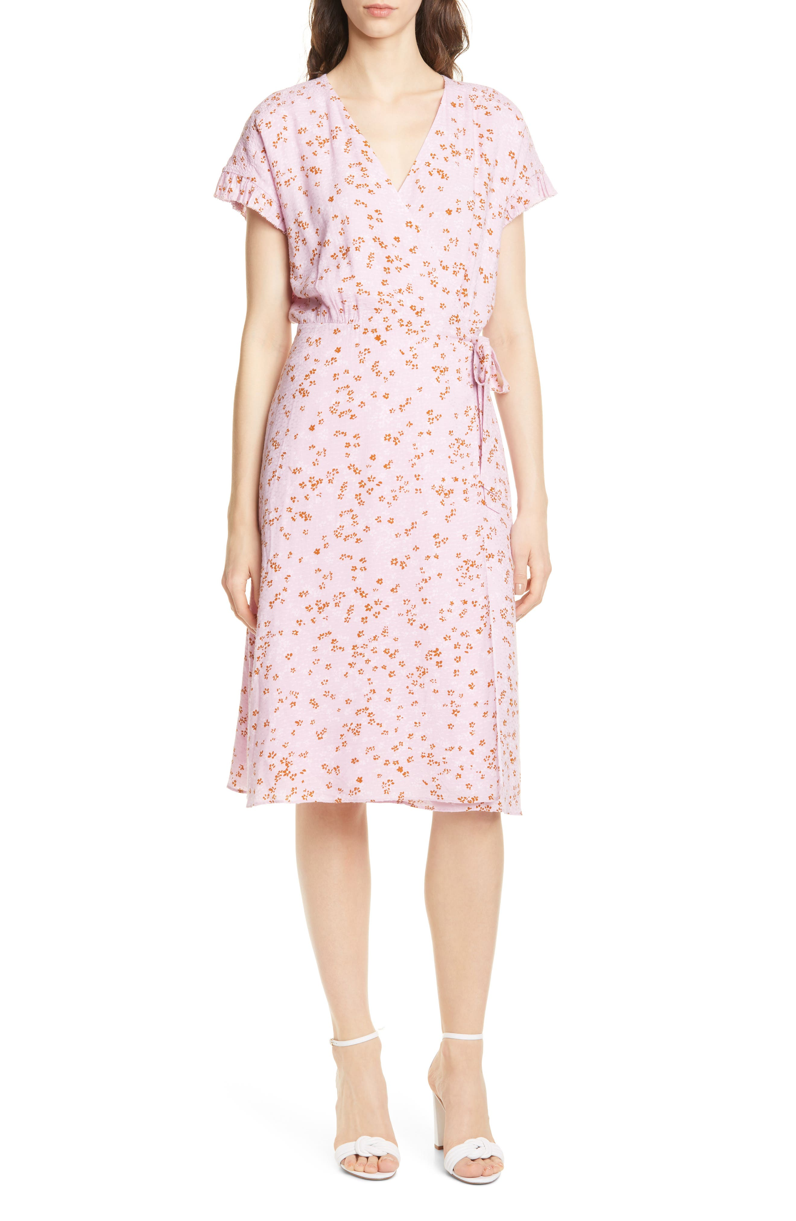 Joie Bethwyn Floral Wrap Dress, Purple