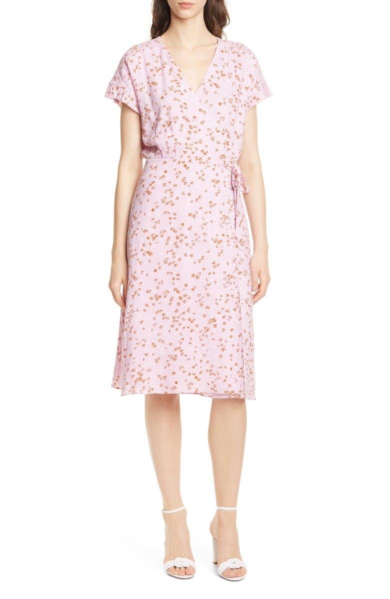 JOIE Bethwyn Floral Wrap Dress, Main, color, 500
