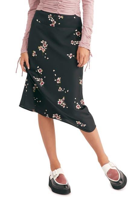Image of Free People Normani Leopard Print Bias Cut Midi Skirt